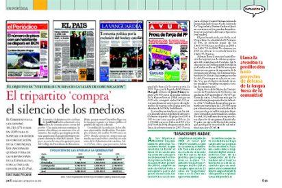 El Tripartido compra con 10 millones de euros el silencio de los medios de comunicación