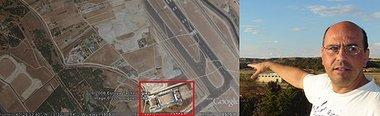 Este hombre vive (literalmente) en la pista de aterrizaje de la nueva T4 de Barajas