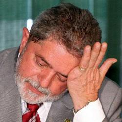 Lula da Silva, consternado