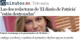 '20 Minutos' ignora a la mujer, que por acudir engañada a un programa de Antena 3, fue degollada