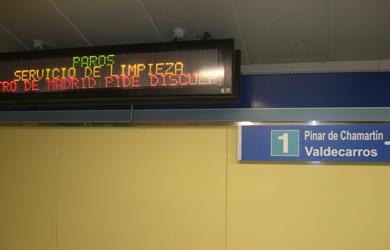 Basura y hedor en el Metro de Madrid