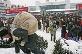 La nieve sepulta al año de la rata china