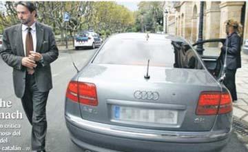 """Benach retira el tuneado de su coche, pero dice que la TV y el reposapiés no son """"ningún lujo innecesario"""""""