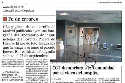"""El País confiesa su """"error"""" pero sigue a la carga contra Esperanza Aguirre"""