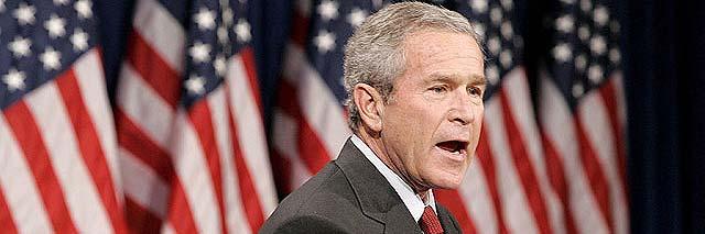 Bush afirma que los efectos del plan de rescate tardarán en notarse