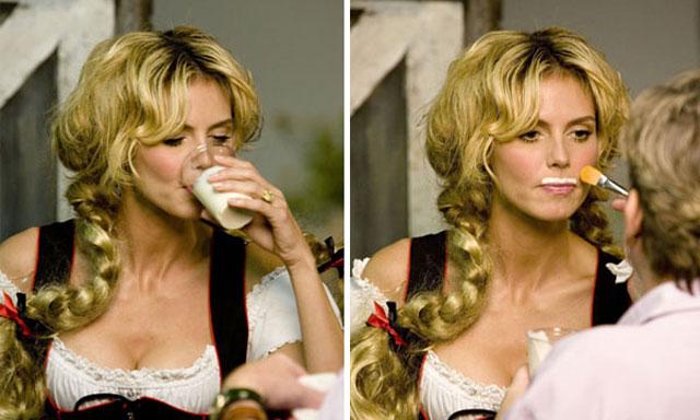 Una diosa promociona el consumo de leche