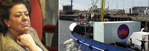Rita Barberá muestra su indignación ante la llegada del barco abortista