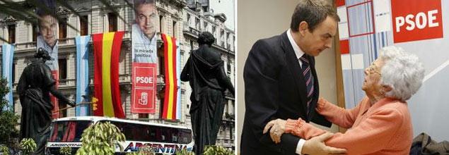 Zapatero quiere los votos de los nietos del exilio