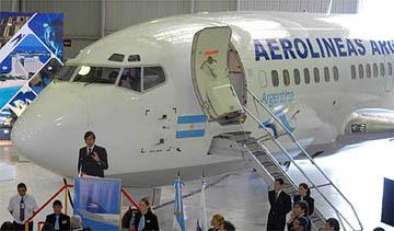 Argentina expropiará Aerolineas y Austral a Marsans