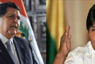 """Alan García le recuerda a Evo Morales que Perú """"tiene un solo presidente"""""""