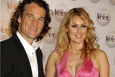 El tenista bello y la presentadora alegre