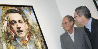 Sarkozy padre expone en Valencia el regalo que le hizo a su hijo en la boda;un retrato de su nuera