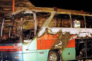Un fumador provocó el incendio de un autocar que causó 20 muertos