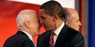 Obama y McCain se comprometen a trabajar juntos