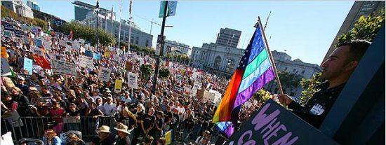 Centenares de miles de gays y lesbianas piden ayuda a Obama
