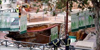 Las obras del metro de Sevilla hunden un quiosko