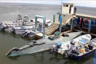 Hallan un submarino con capacidad para ocho toneladas de cocaína en Colombia
