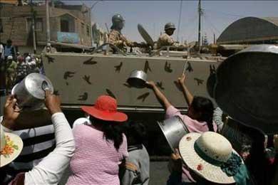 """Amnistía Internacional expresa su """"preocupación"""" por la violencia en Tacna"""