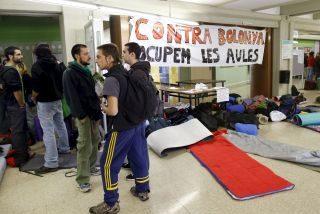 Continúan los encierros en el Campus de la Universidad de Barcelona