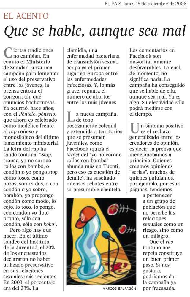 """El País y los creadores de opinión: """"Para ellos tener sexo es como un milagro"""""""