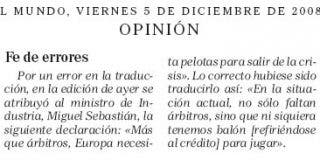 """El Mundo de Pedrojota le toca las """"pelotas"""" al ministro Sebastián"""