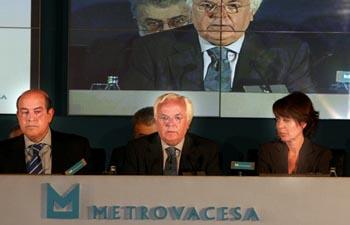 Los Bancos se quedan con la mitad de Metrovacesa