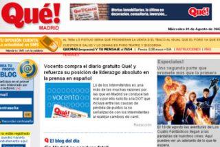 Vocento presenta un ERE que afecta al 40% de la plantilla del 'Qué!'