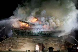 Arde el primer tesoro de Corea, la puerta Namdaemun