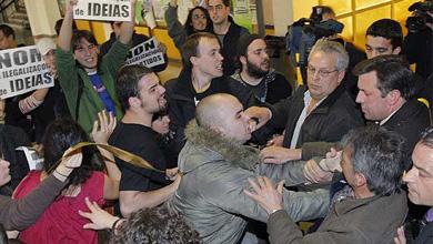 TVE, PSOE y Xunta banalizan la agresión a María San Gil