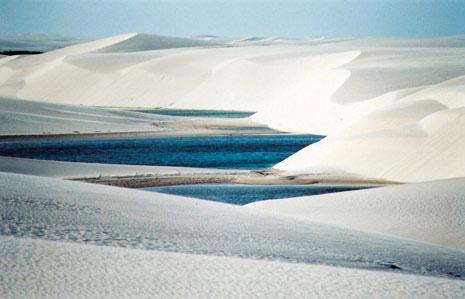 El desierto que se inunda en verano