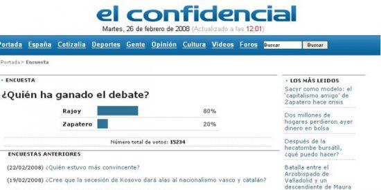 El País da por ganador a ZP en Internet sin consultar a los medios digitales