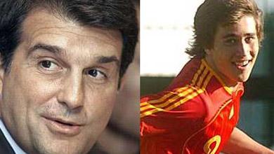 Laporta veta la foto de Bojan con España