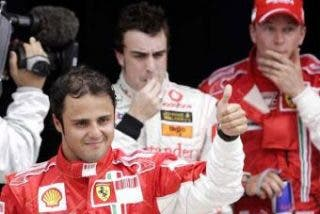 Massa, a la sombra de Alonso