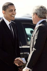 Bush y Barack Obama ¿familia?