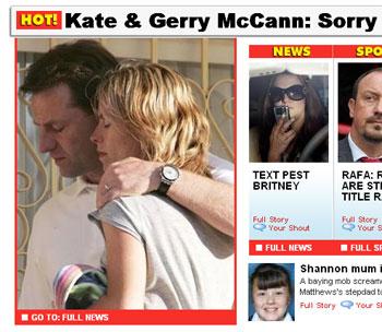 Dos diarios británicos piden disculpas en sus portadas a los padres de Madeleine McCann