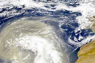 El polvo del Sahara dispara la contaminación en España