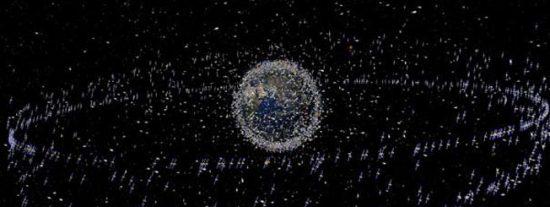 La basura que hay en el espacio