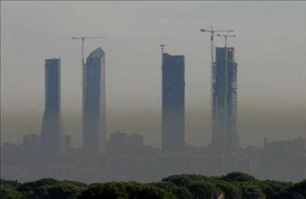Los niveles de nitrógeno en el aire de Madrid están cerca de los límites máximos