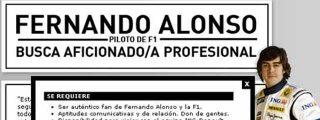 Fernando Alonso busca bloguero para convertirlo en una estrella