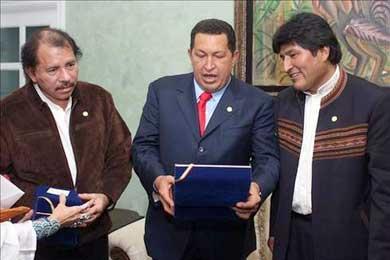 Chávez, Ortega, Morales y Lage se reunirán hoy en Caracas en el marco de ALBA