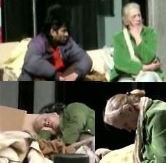 Terele Pávez duerme en la calle