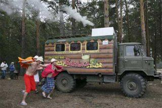 Llega desde Rusia la sauna móvil