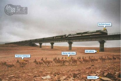 China uso una foto trucada para justificar el tren del Tibet