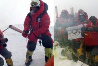 La llama olímpica se refugia en la cima del mundo