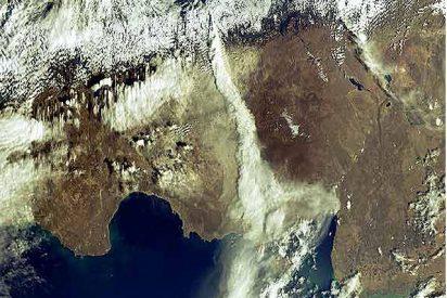 El estrago del Chaitén visto desde el Espacio