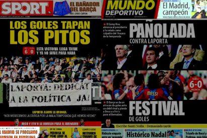 En Barcelona, la Liga del Madrid no es noticia