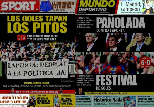 En Barcelona, la Liga del Madrid no es noticia