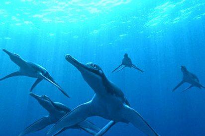Una película recrea la vida de los saurios marinos