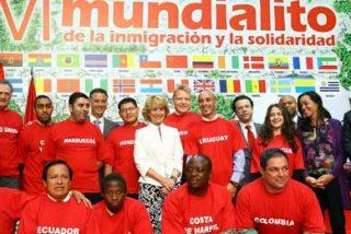 Presidenta de la Comunidad de Madrid presenta la sexta edición del Mundialito de la Inmigración