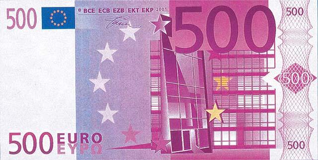 Con la crisis inmobiliaria se esfuman los billetes de 500 euros